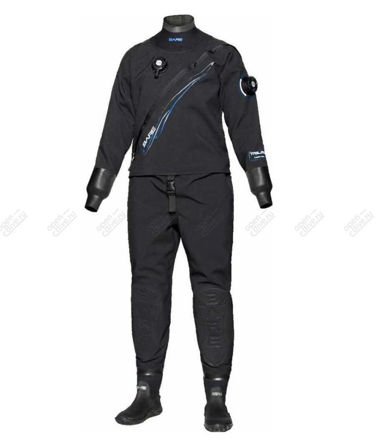 Сухой гидрокостюм Bare Trilam Tech Dry черный мужской